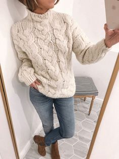 knit sweater chunky knit sweater - outfits lately. chunky knit sweater – outfits lately Casual Sweaters, Cable Knit Sweaters, Chunky Sweaters, Winter Sweaters, Chunky Knit Jumper, Knit Shrug, Chunky Knits, Vintage Sweaters, Cozy Sweaters