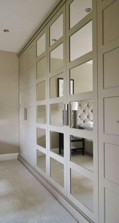 27 Ideas bedroom wardrobe ideas built ins mirror for 2019 Fitted Wardrobe Design, Wardrobe Design Bedroom, Bedroom Furniture Design, Bedroom Decor, Mirror Bedroom, Wardrobe Doors, Built In Wardrobe, Wardrobe Ideas, Trendy Bedroom