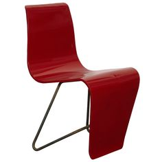 """André Bloc plywood and steel """"Bellevue"""" Chair, ca.1950's"""