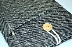 "Macbook Air 11 inch case , Asus VivoBook Laptop Sleeve Padded with pocket, Surface pro RT Sleeve, 11.6"" Custom Laptop sleeve- Herringbone by RCRAFTSS on Etsy"