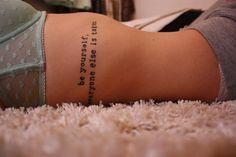 Oscar Wilde quote #tattoo