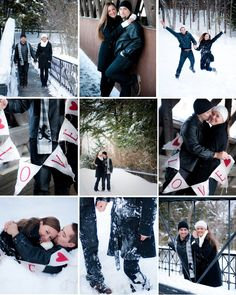 A Winter Engagement.  photo credit: Paige Hiller Photography.