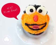Sesame Street Ernie, Elmo, Cookie Monster Cupcakes - Get the directions