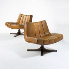 Javier Carvajal, Lounge Chairs for Martinez Medina, c1972.