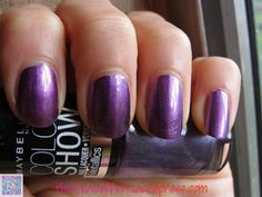 Maybelline Color Show - Amethyst Ablaze  Swatched on Nail Stick.. $3  (Save $1) if you order this with any other polish..