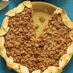 Pumpkin Streusel Pie   MyRecipes.com