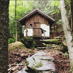 Cabin in Vermont Shelter Design, Bohemian House, Log Cabin Homes, Cabins And Cottages, Cozy Cabin, Cabins In The Woods, The Great Outdoors, Beautiful Homes, Country Homes