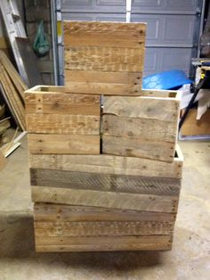 Hometalk :: From Dirty Pallets to Functional Crates