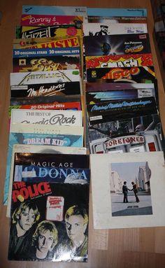 Vinyl Sammlung + Rock/Pop 1980 + Madonna + The Police + Pink Floyd + Metallica