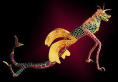 Pedro Linares, the master paper mache artist who coined the term alebrijes. Linares originated the creation of the mystical creatures after a very bad dream. Linares resided in Oaxaca, Mexico. His family continues the paper mache tradition of alebrijes.