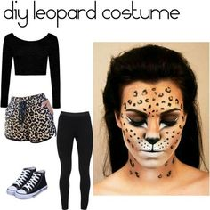 Last Minute Leopard Costume Diy - Leopard Costume Diy Party Partyideas Leopard Costume Leopard Last Minute Leopard Makeup Is Easy To Do Using Ardell Lashes In Diy Cat Leopard Print Cos. Black Dress Halloween Costume, Easy College Halloween Costumes, Pop Culture Halloween Costume, Halloween Ideas, Leopard Halloween, Cat Halloween Makeup, Animal Costumes, Diy Costumes, Costume Ideas