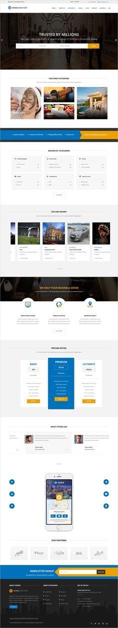 Wisem is beautifully design premium #Joomla #template for #directory listing website with 2 homepage layouts download now➯ https://themeforest.net/item/wisem-responsive-directory-template-for-joomla/17188438?ref=Datasata