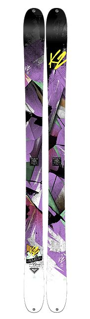 K2 skis: the 92 mm waist width on these gorgeous skis allows for enough float when on soft snow, while holding its own on hard pack and crud.