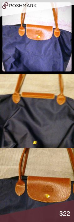 Longchamp Long Handle Shoulder Tote le pliage Longchamp medium tote pre-loved , clean no marks or stains, just a little tear at the one handle. If you are handy with needle and thread  can be easily fixed.The price reflects this. Bags Totes