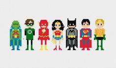 Pixels In Stitches – Les personnages cultes de la pop culture en broderie pixélisée