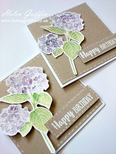 Springtime #1 Hydrangea Card With Free Stamps From Simply Cards & Papercraft Magazine – Helen Griffin