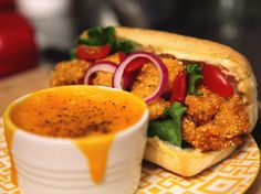 Shrimp Po' Boy with Horseradish Remoulade Recipe : Jeff Mauro : Food Network - FoodNetwork.com