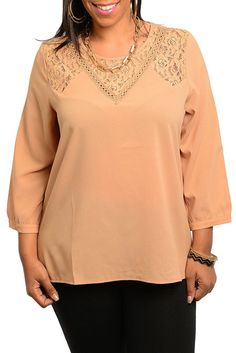 DHStyles Women's Taupe Plus Size Trendy Sheer Lace Chiffon Dressy Top - 1X #sexytops #clubclothes #sexydresses #fashionablesexydress #sexyshirts #sexyclothes #cocktaildresses #clubwear #cheapsexydresses #clubdresses #cheaptops #partytops #partydress #haltertops #cocktaildresses #partydresses #minidress #nightclubclothes #hotfashion #juniorsclothing #cocktaildress #glamclothing #sexytop #womensclothes #clubbingclothes #juniorsclothes #juniorclothes #trendyclothing #minidresses #sexyclothing…