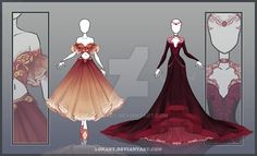 DeviantArt: More Collections Like [Close] Design by Lonary Dress Drawing, Drawing Clothes, Fashion Design Drawings, Fashion Sketches, Kleidung Design, Anime Dress, Dress Sketches, Fantasy Dress, Character Outfits