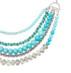 Loft - LOFT Style Closet - Short Blue Gem Necklace