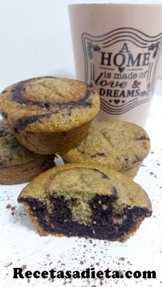 Muffins, Cupcakes, Favorite Recipes, Sweets, Breakfast, Fitness, Homemade Candy Recipes, Chocolate Chip Muffins, Pound Cake