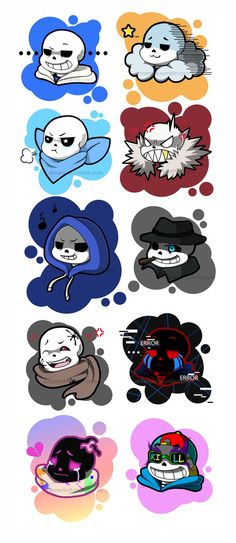Omfg all of these AU Sans