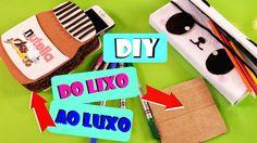 DIY: DO LIXO AO LUXO - DIY  INCRÍVEIS USANDO PAPELÃO PORTA CELULAR DE NU...
