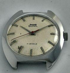 HMT Sunil Mechanical Silver Dial 17 Jewels Men's wrist watch Vintage Collectible | eBay