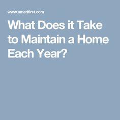 home maintenance plan