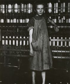 Spinner in a New England cotton mill, North Pownal, Vermont, 1910 - from Kids at Work - Lewis Hine and the Crusade Against Child Labor by Russell Freedman