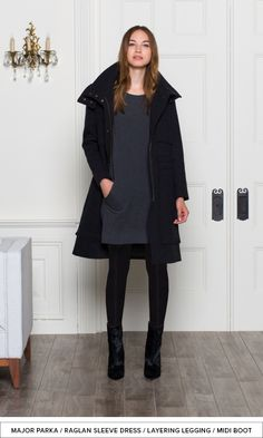 FALL/WINTER 2013 PREVIEW | Emerson Fry - Major Parka, Raglan Sleeve Dress, Layering Leggings