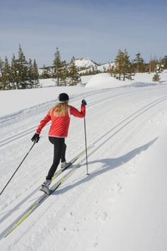 Cross-country skiing. The only way to make it through Iowa winter. When there is actually snow, and not just ice.