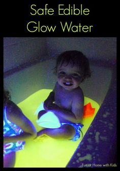 Finally a recipe for glow water that is safe -- even edible!  It's super easy to make (no staining!) and is affordable to boot!  Safe for even the littlest explorers.