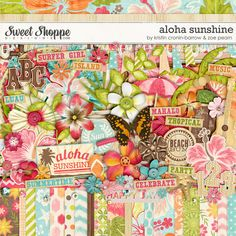 Aloha Sunshine Digital Scrapbooking Kit by Kristin Cronin-Barrow & Zoe Pearn http://www.sweetshoppedesigns.com/sweetshoppe/product.php?productid=23351 $8.99