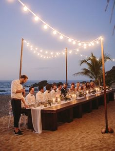 Sayulita Mexico Wedding under the lights on the beach. so gorgeous!