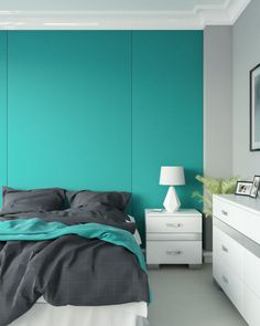 Best teal and gray wall decor ideas for bedroom and living room. Teal Bedroom Walls, Teal Bedroom, Grey Wall Decor, Grey Accent Wall Living Room, Teal Bedroom Decor, Teal Living Room Decor, Bedroom Color Combination, Gray Bedroom Walls, Living Room Decor Gray