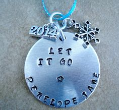 Personalized Let it Go Christmas Ornament  by TJsTreasuresandGifts