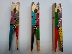 Una manualidad con pinzas de colgar la ropa : Para Niños Con Cabeza
