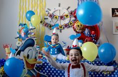 Check out the great photo's sent in of our Donald Duck decorations being used at a Donald Duck themed birthday party. Looks like a great party we love all of the decor!  If you would like to see our Donald Duck party decorations please click the link below!  https://www.etsy.com/shop/ScrapsToRemember/search?search_query=donald+&order=date_desc&view_type=gallery&ref=shop_search
