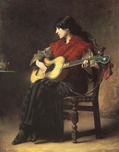 Inspirational Artworks: Charles Sprague Pearce - October 1851 – 18 May was an American artist. Inspirational Artwork, Music Painting, Guitar Art, Academic Art, Historical Art, Traditional Paintings, Sculpture, American Artists, Art Google