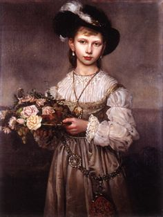 Princess Victoria of Prussia in a historical costume, painted by her mother