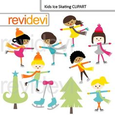 Kids ice skating clip art. Digital clipart images featuring multi racial kids. Great for winter theme projects.Clipart set for teachers and educators. Great resource for any school and classroom projects such as for creating bulletin board, printable, worksheet, classroom decor, craft materials, activities and games, and for more educational and fun projects.Buy in bundle, and save a lot!Link-Kids Ice Skating Clip art bundle (3 packs) teacher seller toolkit for winterYou will receive:- Each…