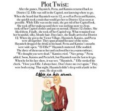 The Hunger Games plot twist. Awww I like this! I always sorta shipped Effie and Haymitch in a weird way.