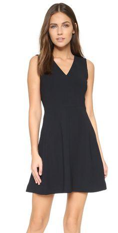 Vince V Neck Sleeveless Dress | SHOPBOP