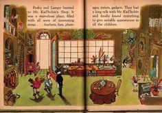Peaky Beaky a Rand McNally Tip-Top Elf Books - Bertrand de Vogue - Kelly Oechsli - 1967 - Vintage Kids Book
