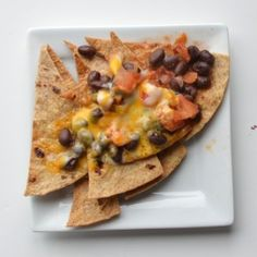 Black Bean Nachos--really easy and really good, especially with Trader Joe's fire roasted tomato salsa and Chicken