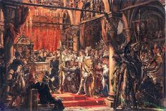 Coronation of Boleslaw Chrobry by Jan Matejko