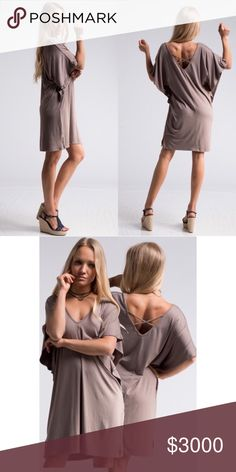 COMING SOON! Tan Laid Back Dress Like for Notifications or comment to reserve! I have Small, Medium, and Large. Price: $40 Fashionomics Dresses Midi
