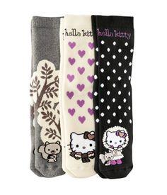 Fine knit Hello Kitty socks from H