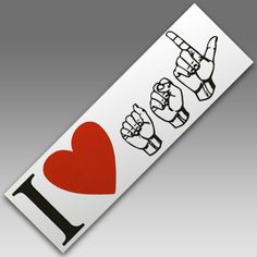 DeBee Communications | I Love ASL Sticker